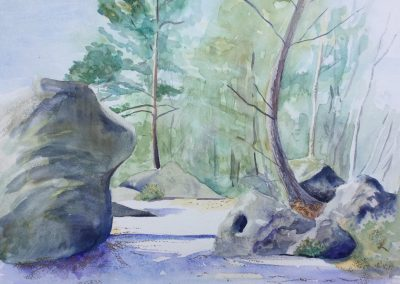 Sandstone and Pines, Trois Pignons
