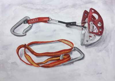 Off Width cam with Red Sling SOLD