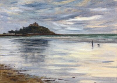 Low Tide Reflections Marazion SOLD
