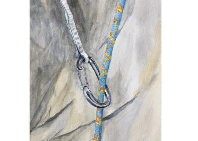 Blue Rope in Carabiner